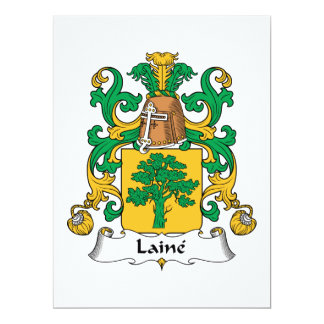 Laine Family Crest 6.5x8.75 Paper Invitation Card
