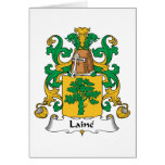 Laine Family Crest Greeting Card
