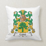 Laine Family Crest Throw Pillow