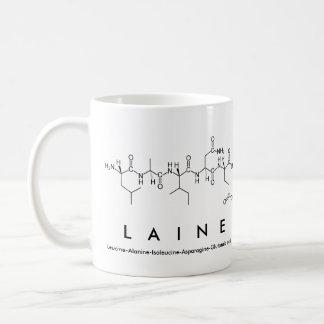 Laine peptide name mug