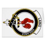 Laing Clan Badge Greeting Card
