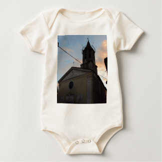 Laino Borgo Church Sunset Baby Bodysuit