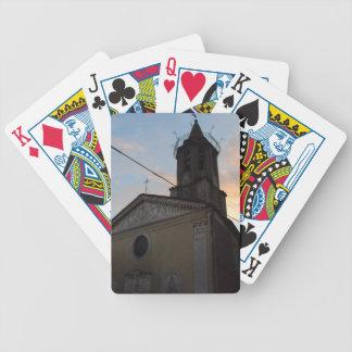 Laino Borgo Church Sunset Bicycle Playing Cards