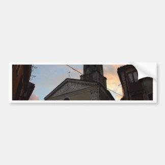Laino Borgo Church Sunset Car Bumper Sticker