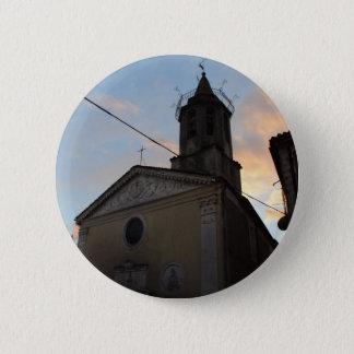 Laino Borgo Church Sunset Button