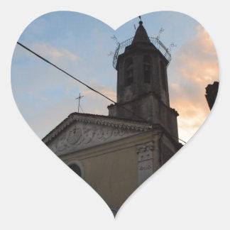 Laino Borgo Church Sunset Heart Sticker