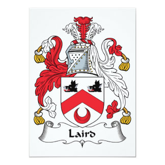 Laird Family Crest Card
