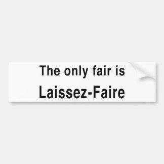 Laissez-Faire Bumper Sticker