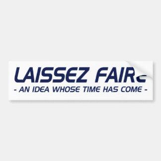 Laissez Faire Bumpersticker - blanco Pegatina Para Auto