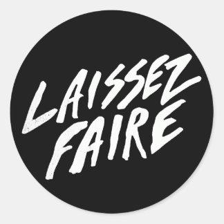 LAISSEZ FAIRE CLASSIC ROUND STICKER