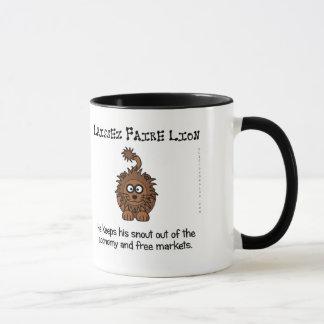 Laissez faire market philosphy mug