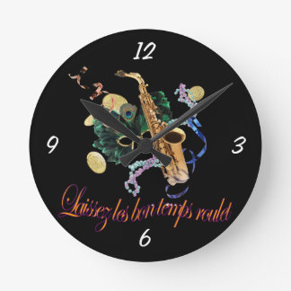 Laissez le Bon Temps Roulet Wall Clock