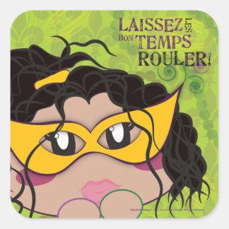 Laissez les Bon Temps Rouler Square Sticker