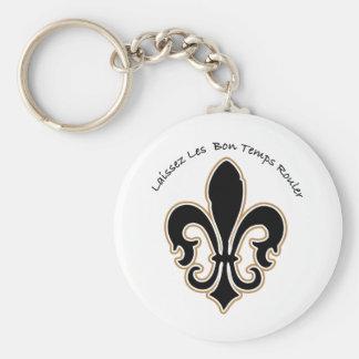 Laissez les bon temps Saints Basic Round Button Keychain
