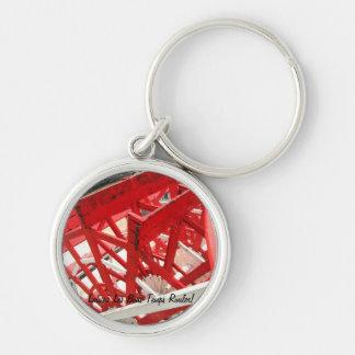 Laissez les bons temps rouler Silver-Colored round keychain