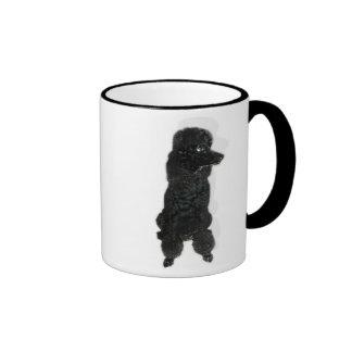 Lait de au de café francés del caniche de la taza