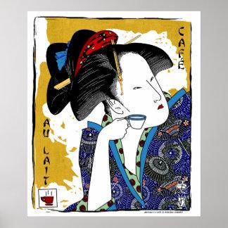 lait del au del café de los utamaro poster
