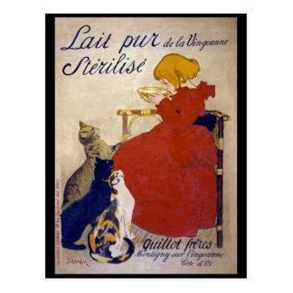 Lait pur stérilisé de la Vingeanne, Steinlen Postcard