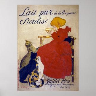 Lait pur stérilisé de la Vingeanne, Steinlen Poster