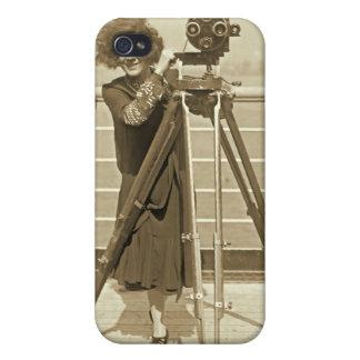 Lajinska con el caso del iPhone de la cámara de pe iPhone 4/4S Funda