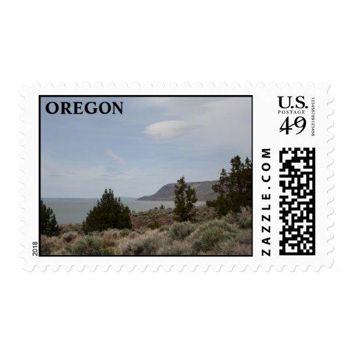 Lake Abert Postage Stamp