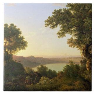 Lake Albano, Italy, 1777 (oil on canvas) Ceramic Tile