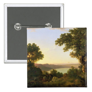 Lake Albano, Italy, 1777 (oil on canvas) Pinback Button