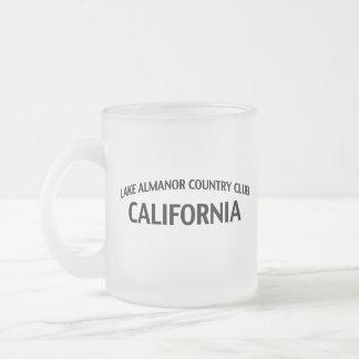 Lake Almanor Country Club California Frosted Glass Coffee Mug