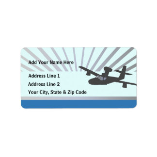 Lake Amphib Aviation Custom Address Label