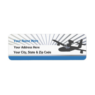 Lake Amphib Aviation Return Address Label