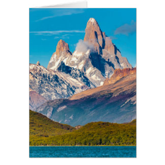Lake and Andes Mountains, Patagonia - Argentina Card