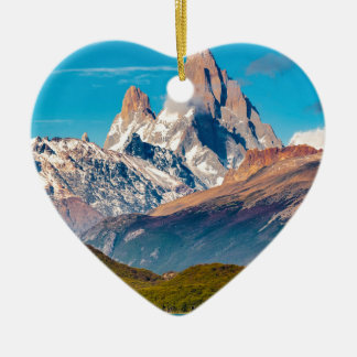Lake and Andes Mountains, Patagonia - Argentina Ceramic Ornament