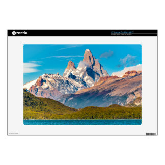 Lake and Andes Mountains, Patagonia - Argentina Decals For Laptops