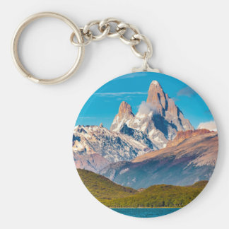 Lake and Andes Mountains, Patagonia - Argentina Keychain