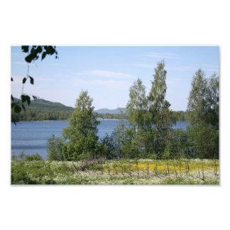 Lake and Fence Photograph