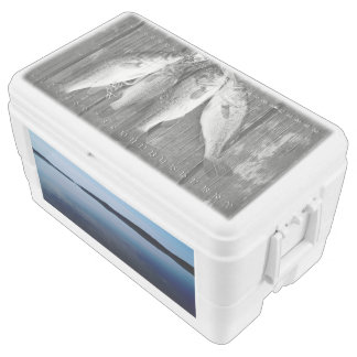 Lake And Fish, 48 Quart Duo Deco Cooler