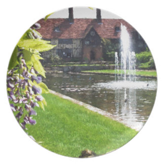 Lake and Fountain at RHS Wisley Plate