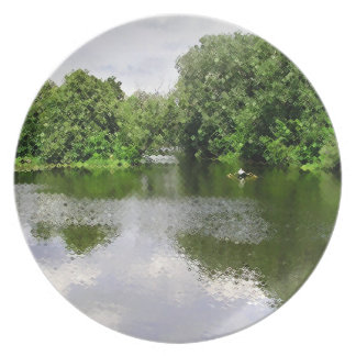 Lake and Greenery Dinner Plates