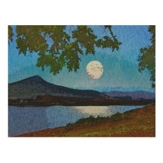 Lake and Moon Reflections Postcard