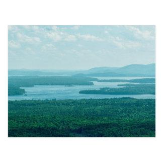 Lake and Mountain View Postcard