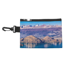 Lake and Mountains Landscape, Patagonia, Chile Accessory Bag
