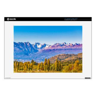 Lake and Mountains Landscape, Patagonia, Chile Laptop Skins