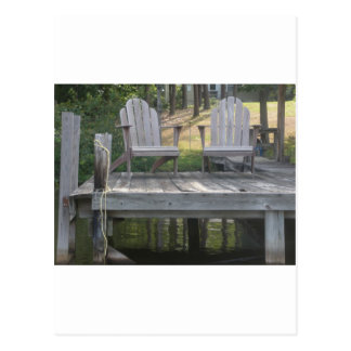 Lake Anna dock chairs Post Cards