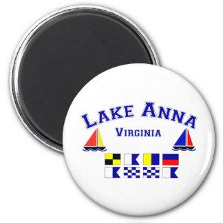 Lake Anna VA Signal Flags Magnet