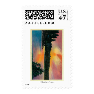 Lake Arrowhead at SunsetLake Arrowhead, CA Stamp
