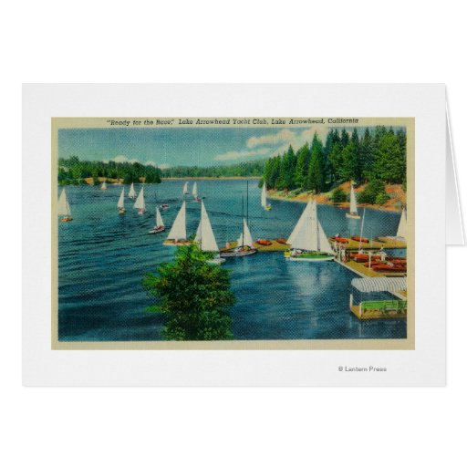 Lake Arrowhead, CA Yacht Club Racing Card