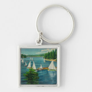 Lake Arrowhead, CA Yacht Club Racing Key Chain