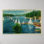 Lake Arrowhead, CA Yacht Club Racing Poster