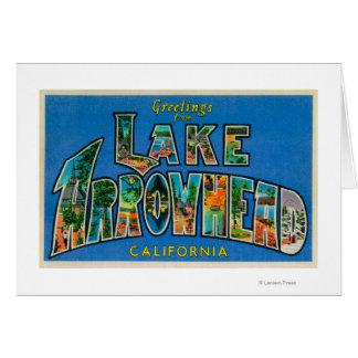 Lake Arrowhead, California - Large Letter Scenes Card