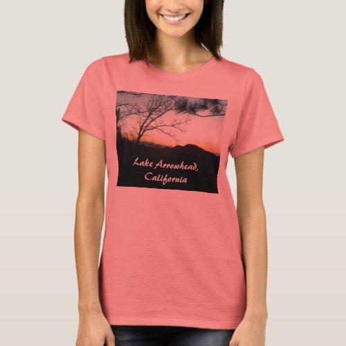 Lake Arrowhead, California T-Shirt Designed by Jul shirt